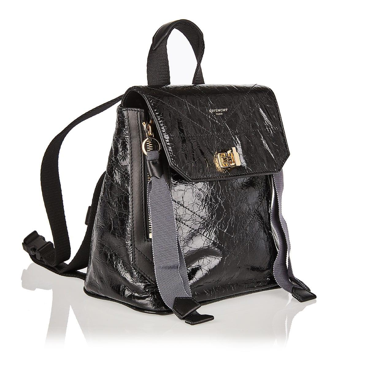 ID mini leather backpack
