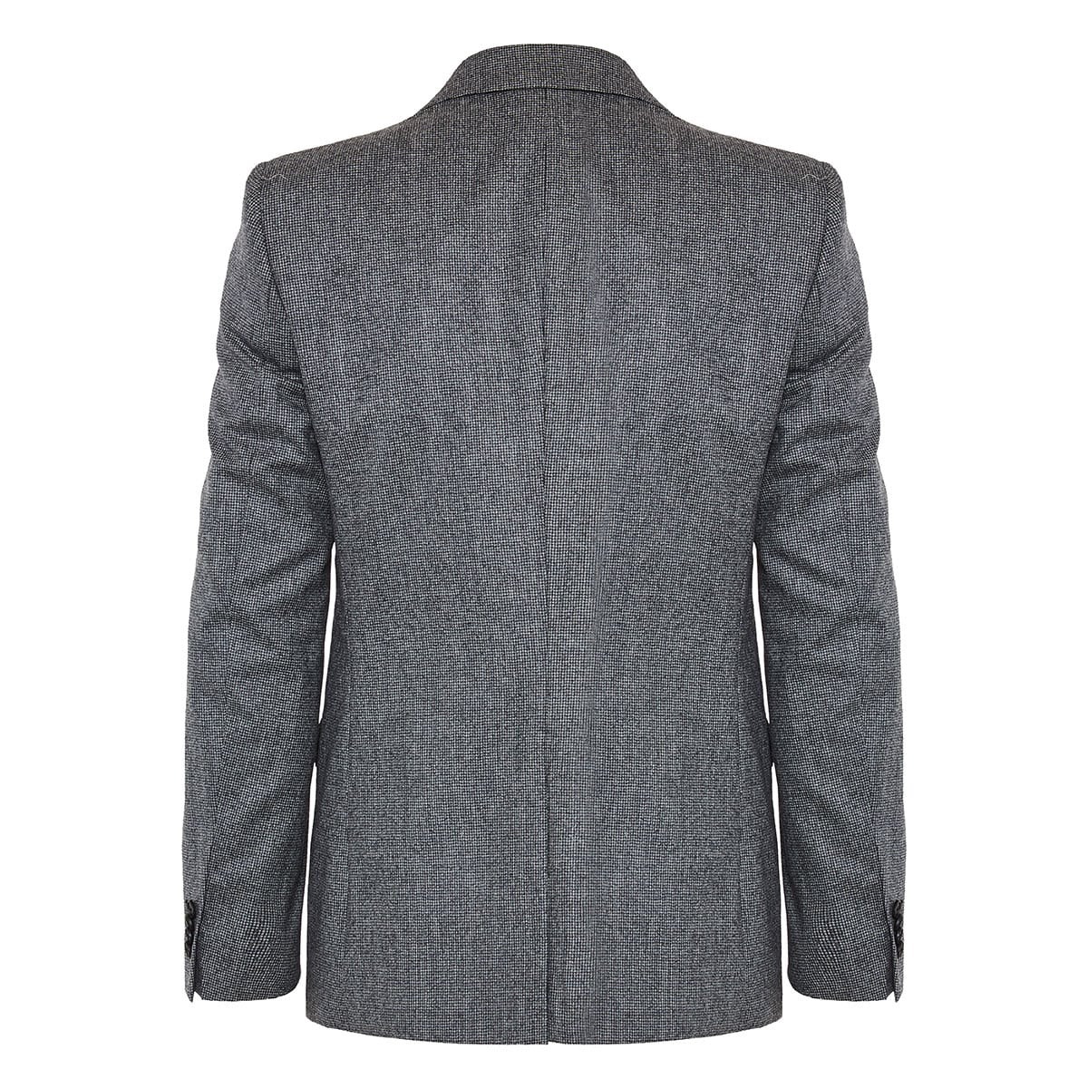 Single-breasted flannel blazer