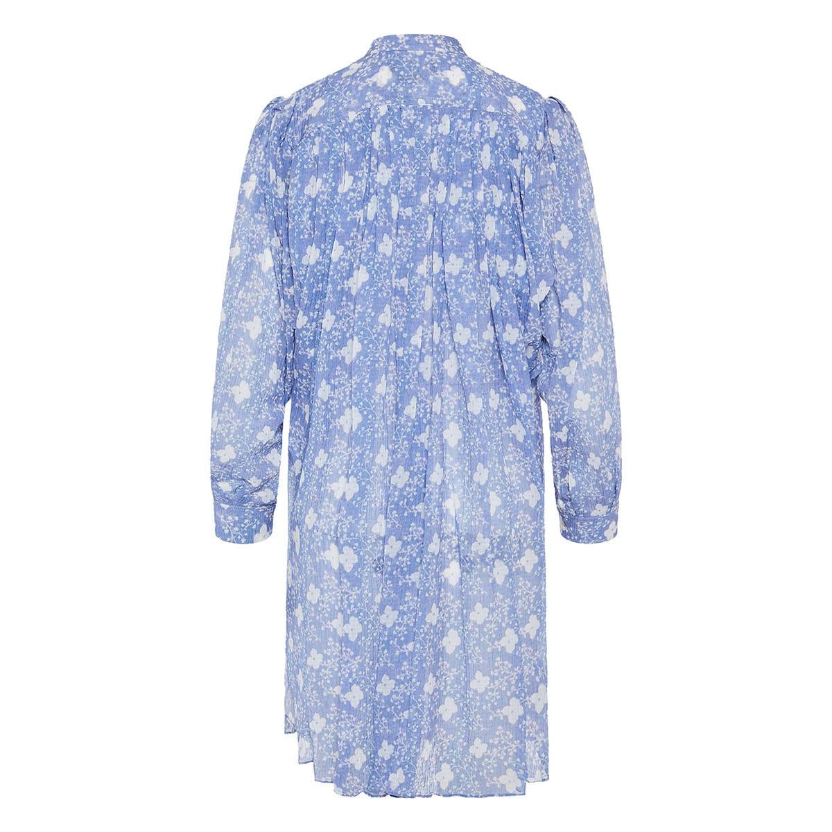 Erika gathered floral shirt dress