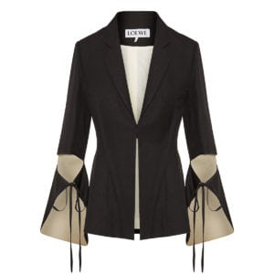 Blazer with tie cut panel sleeves
