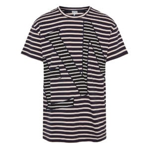 Oversized striped logo t-shirt