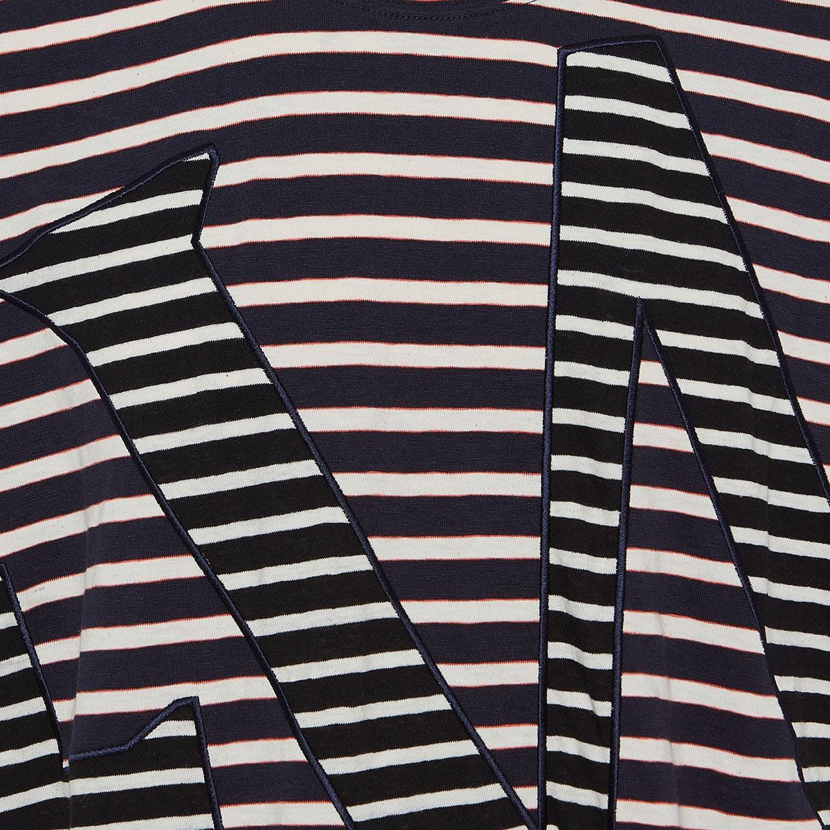 Oversized striped logo t-shirt