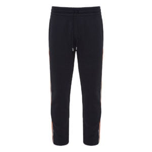 Track trousers with striped logo bands