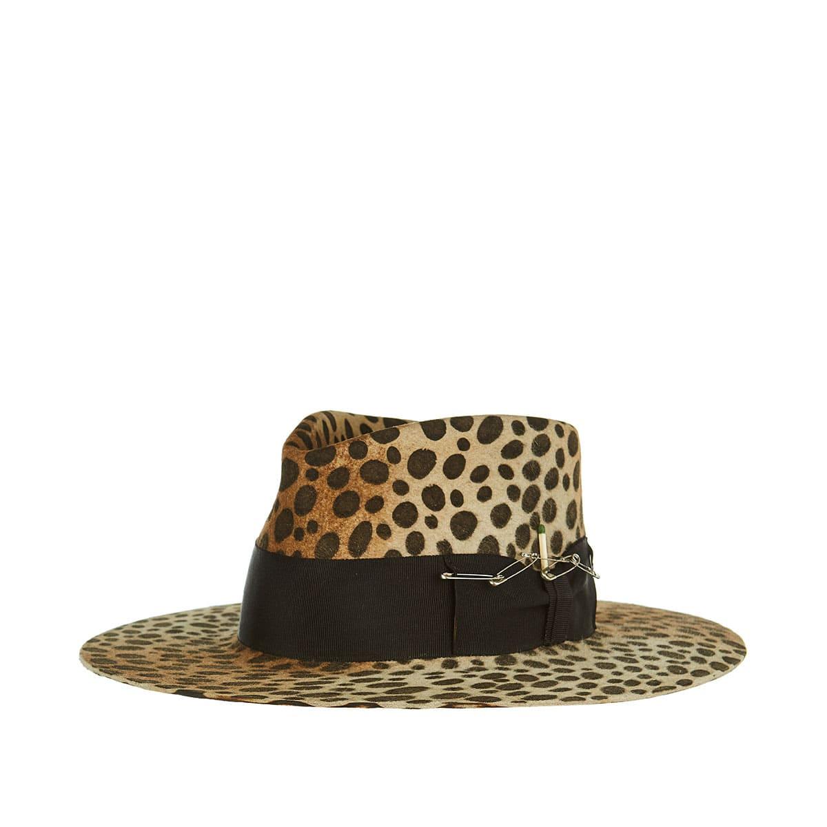 Lynx leoapard felt hat