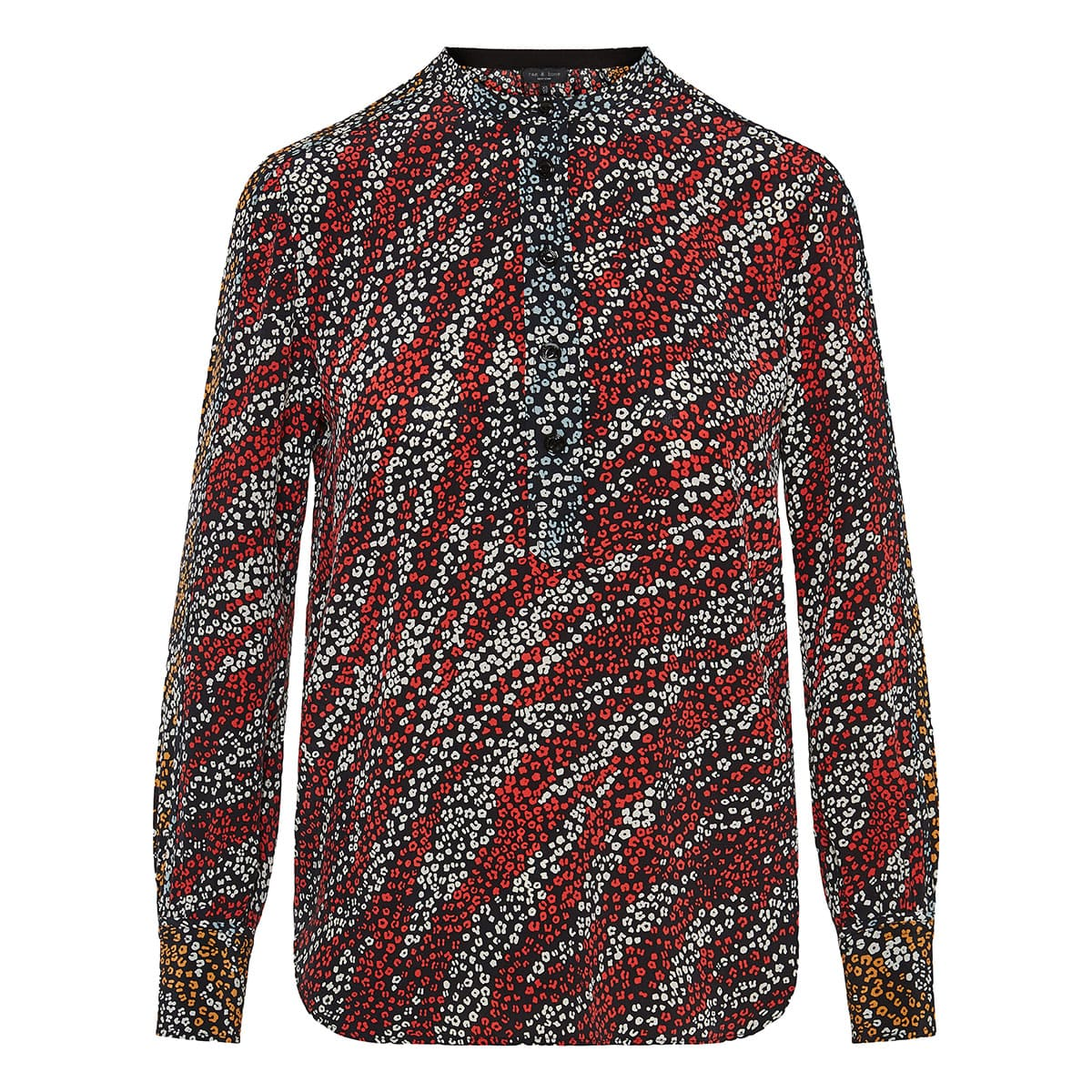 Colette printed silk blouse