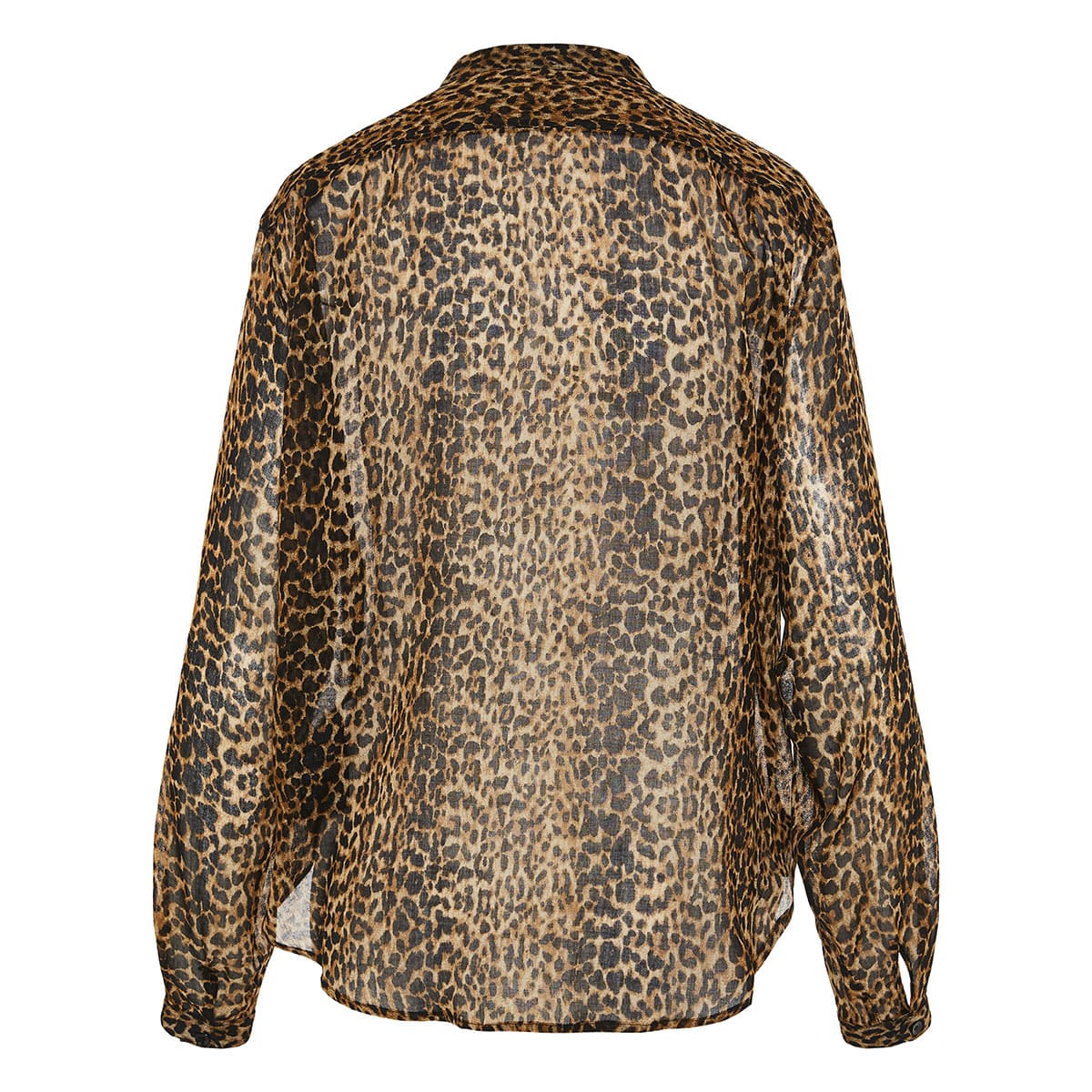 Leopard knotted shirt