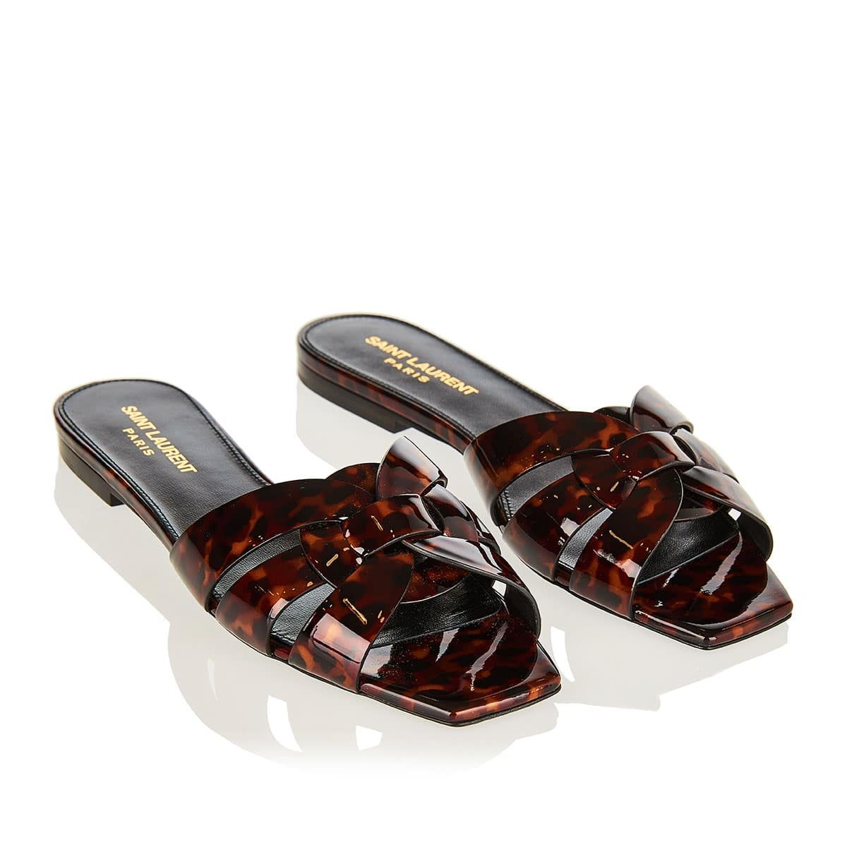 Tribute tortoiseshell flat sandals