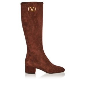 VLogo suede boots