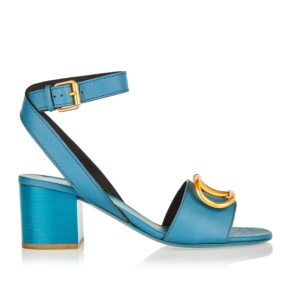 Vlogo leather sandals