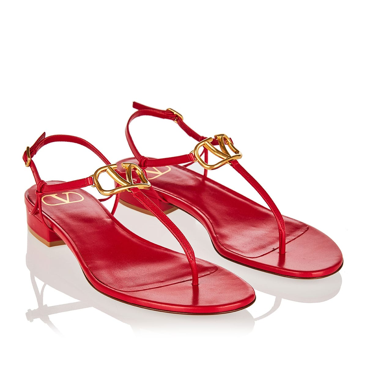 VLOGO flat leather sandals