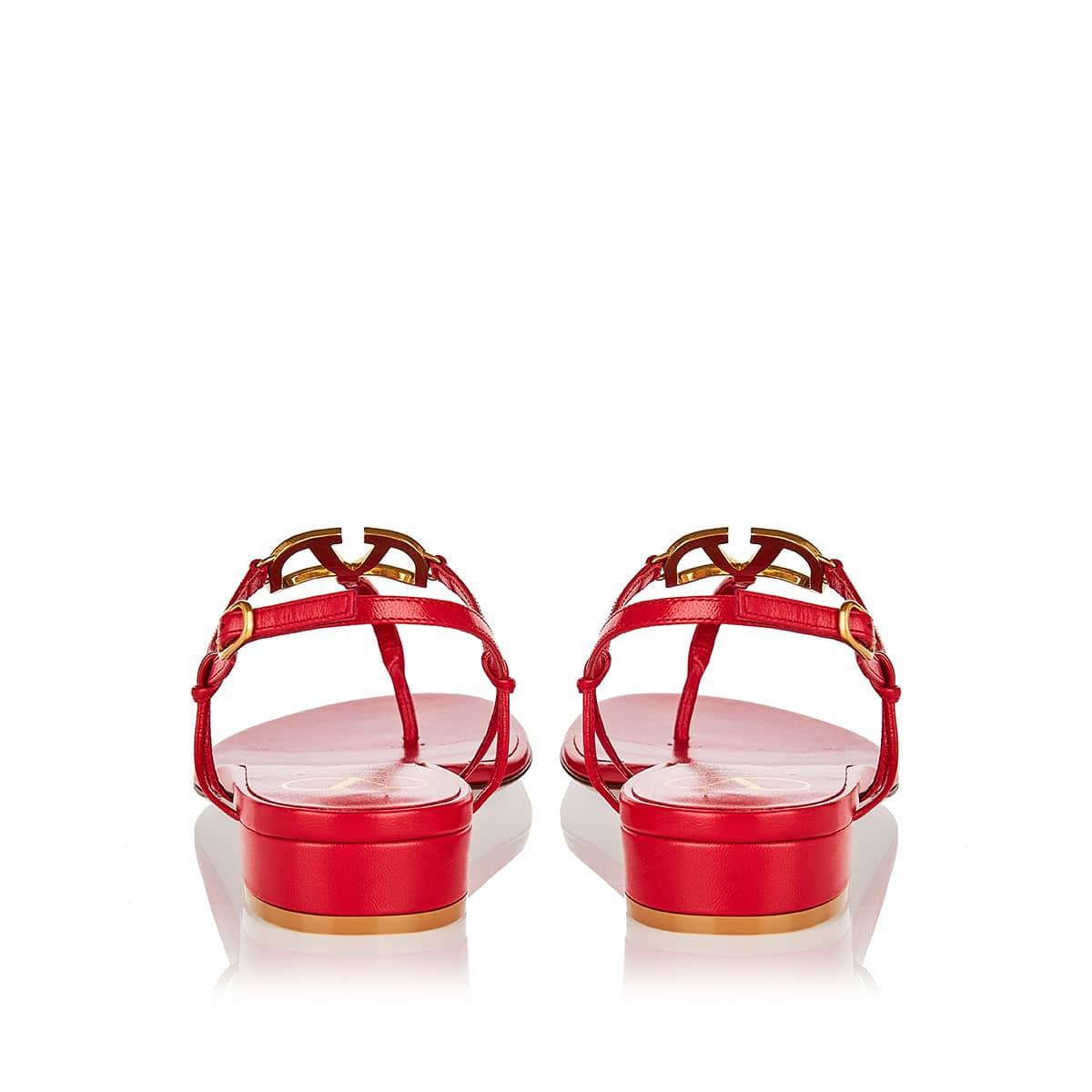 VLOGO flat leather sandals