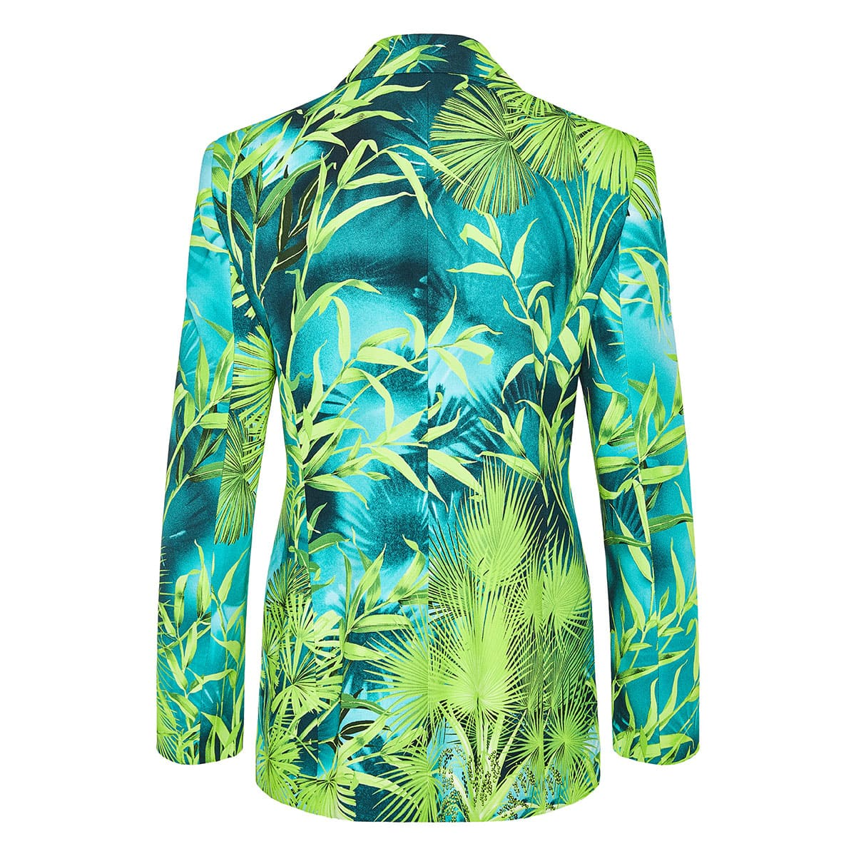 Jungle print single-breasted blazer