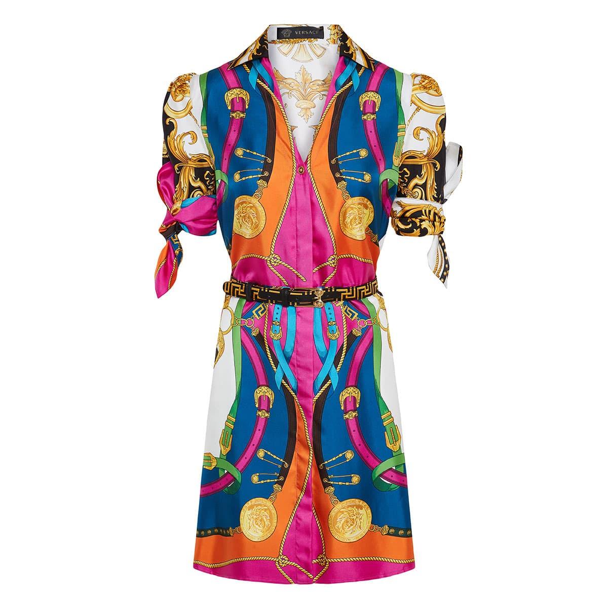 Barocco Rodeo printed shirt dress