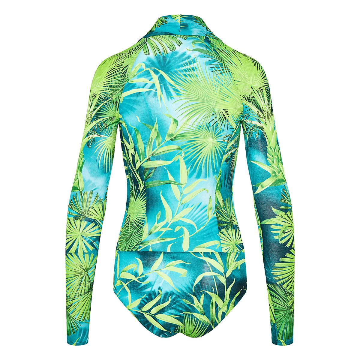 Jungle print plunging bodysuit