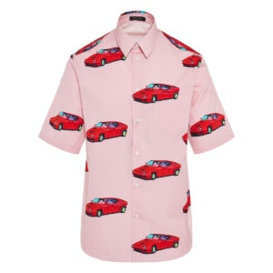 Race car print shirt