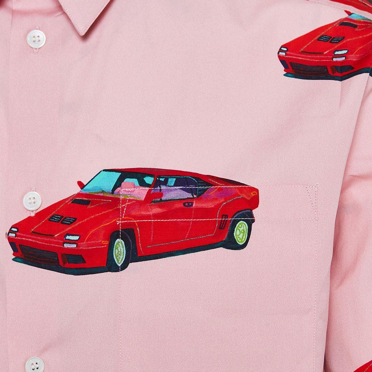 Race car print shirt