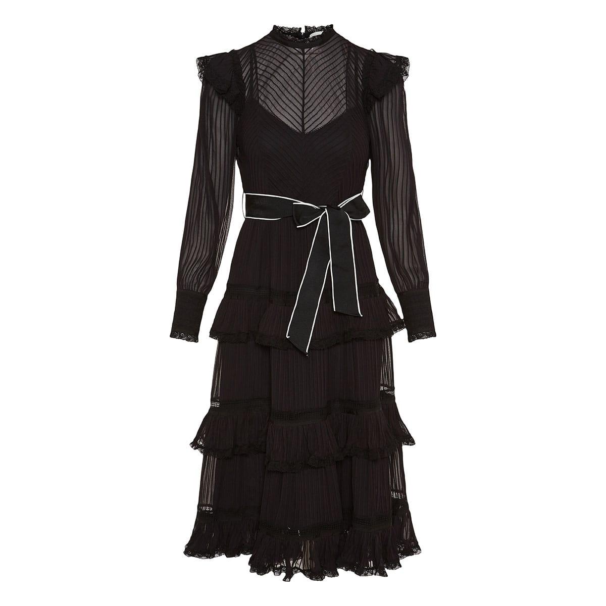 Wavelength pintuck midi dress