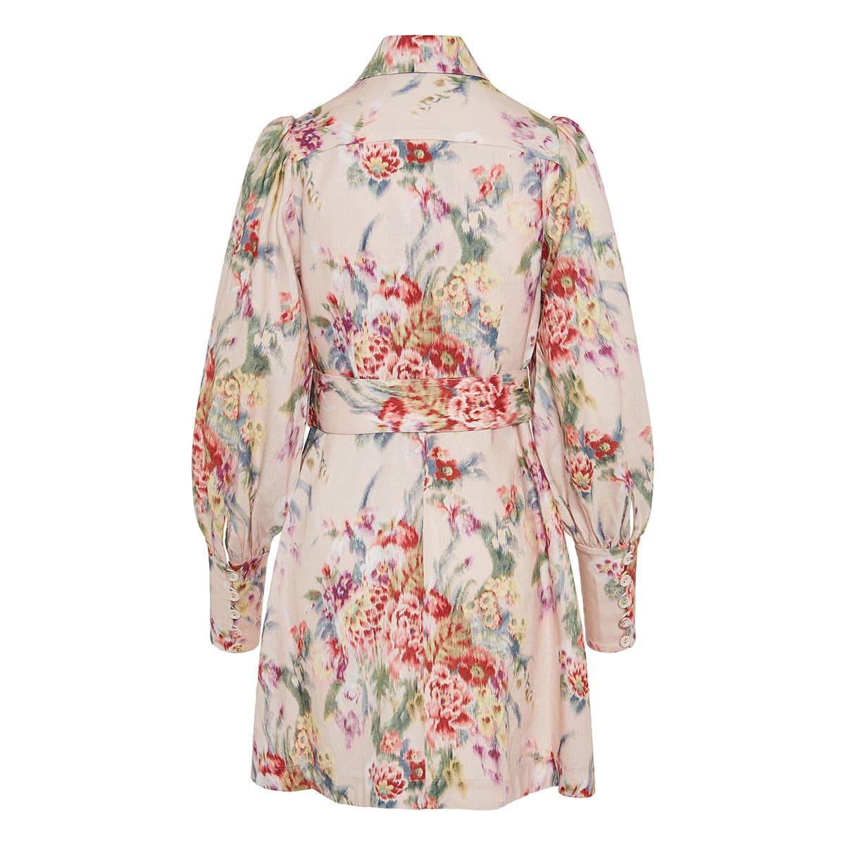 Wavelength utility floral mini dress
