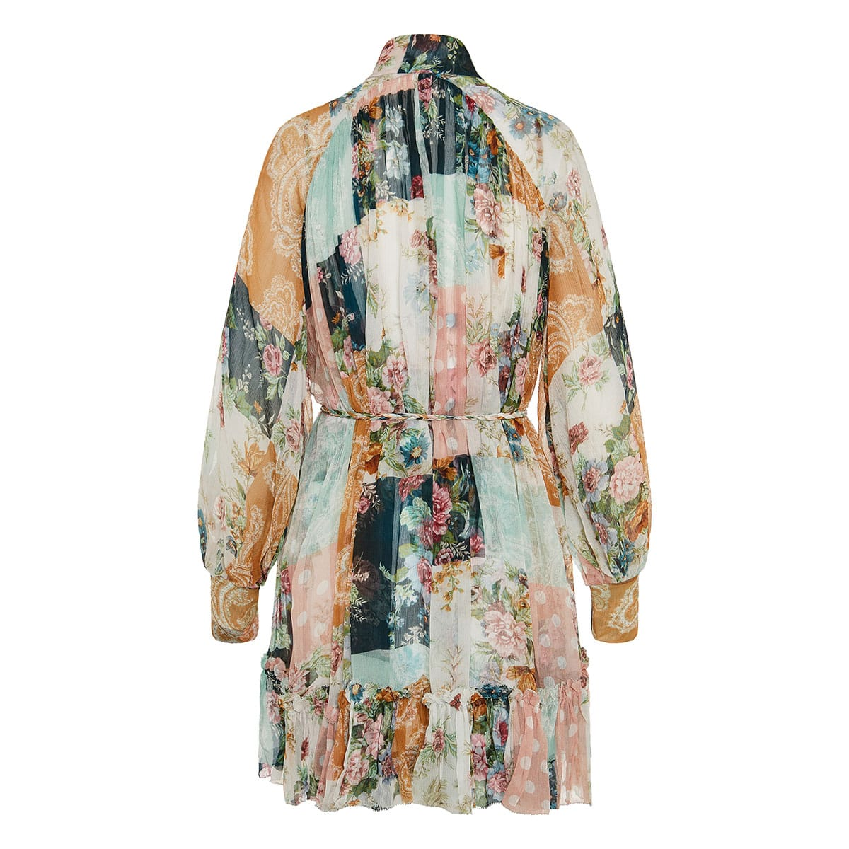 Wavelength Smock patchwork print mini dress