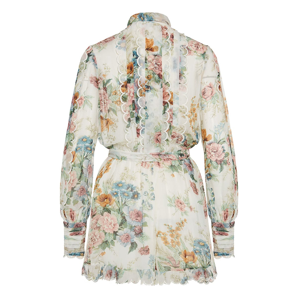 Wavelength bow-tie floral playsuit