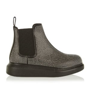 Chunky sole studded chelsea boots