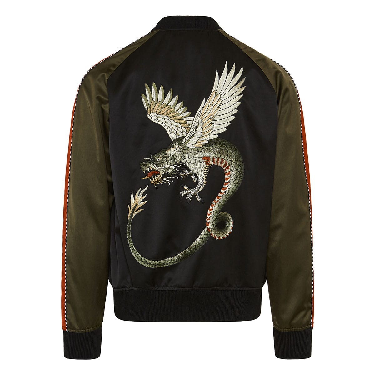 Dragon patch bomber jacket