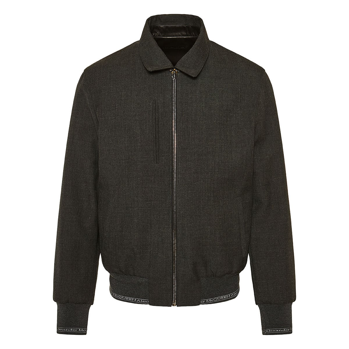 Reversible leather and wool jacket