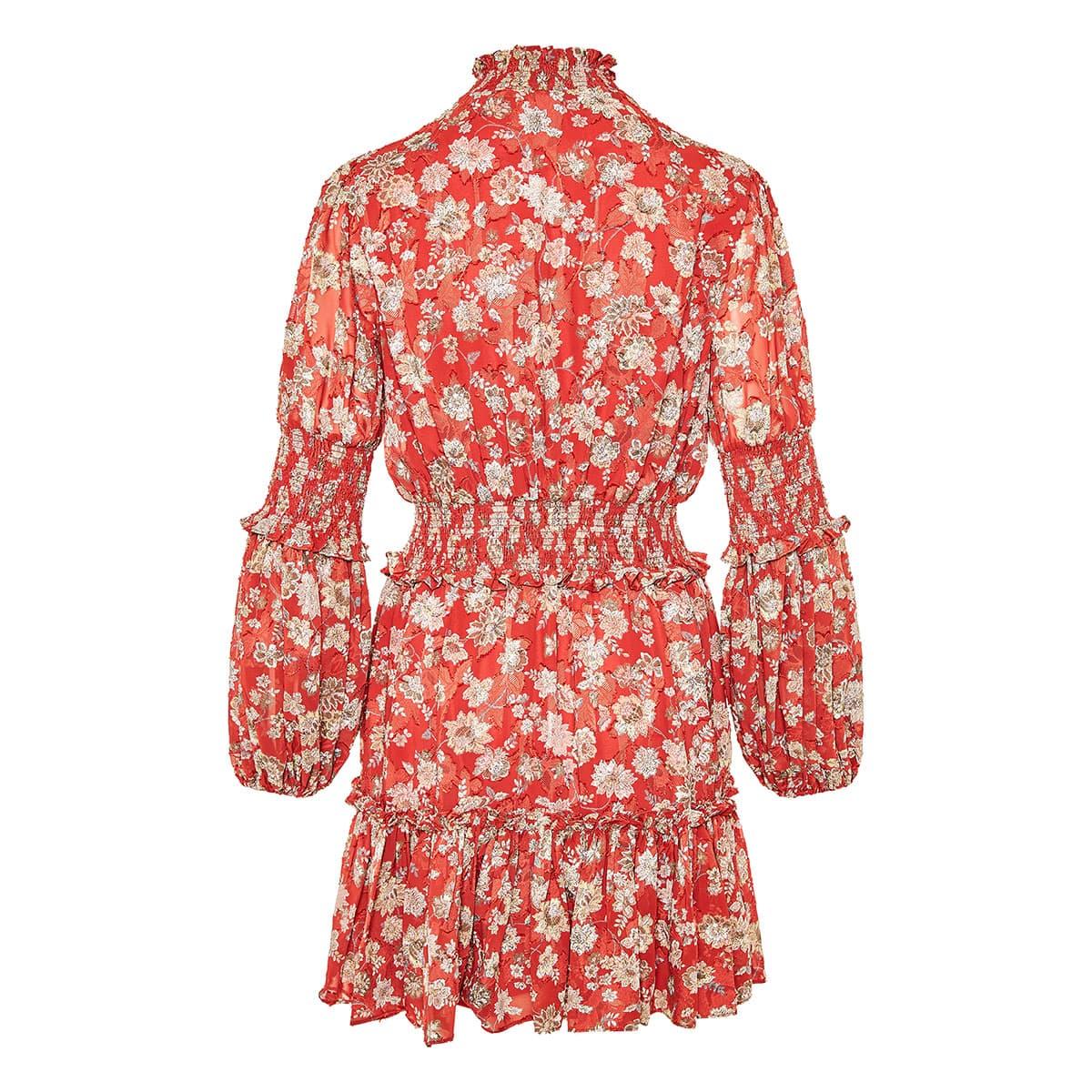 Rosewell floral chiffon mini dress