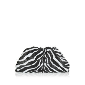 The Pouch zebra-printed leather clutch