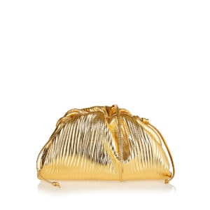 The Pouch mini metallic leather clutch