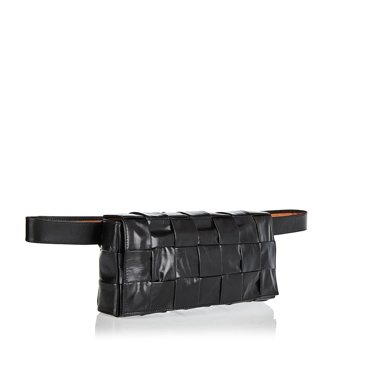 Maxi Intreccio leather crossbody bag