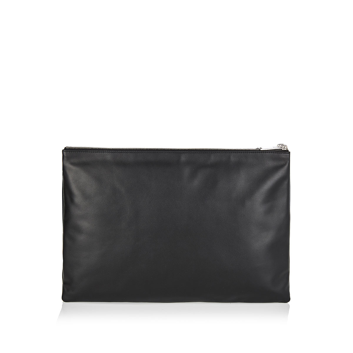 Embossed-leather messenger bag