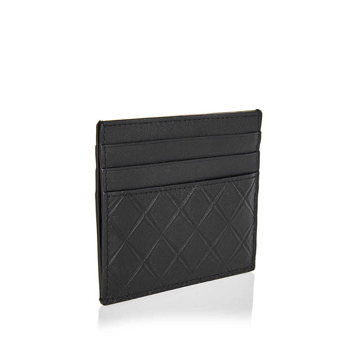 Embossed-leather card case