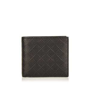 Embossed-leather bi-fold wallet