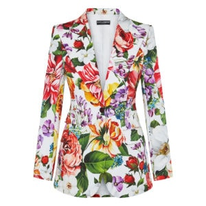 Single-breasted floral blazer