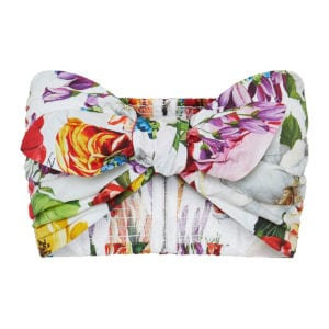 Floral knotted bandeau top