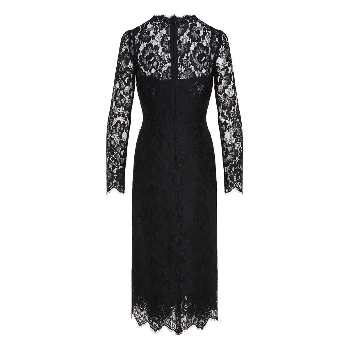 Lace draped midi dress