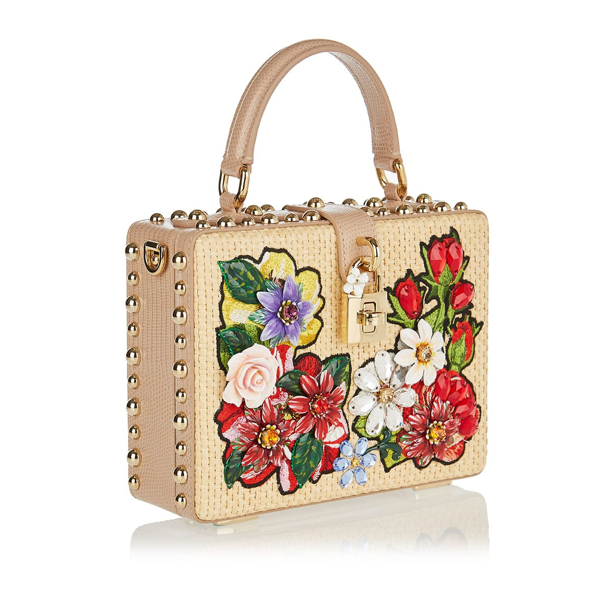 Dolce Box embellished woven bag