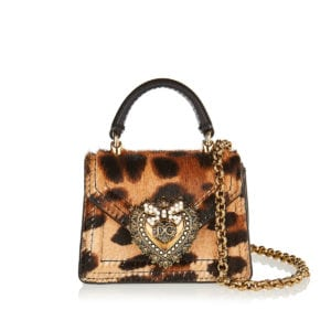 Devotion leopard pony hair micro bag