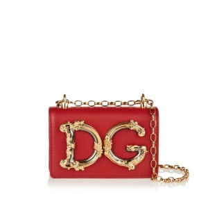DG Girls mini leather chain bag