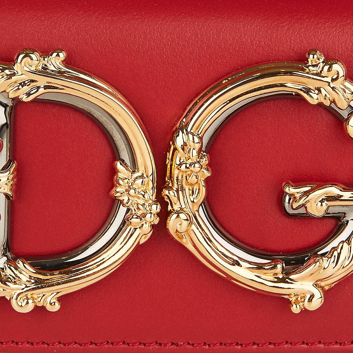 DG Girls mini leather chain bag
