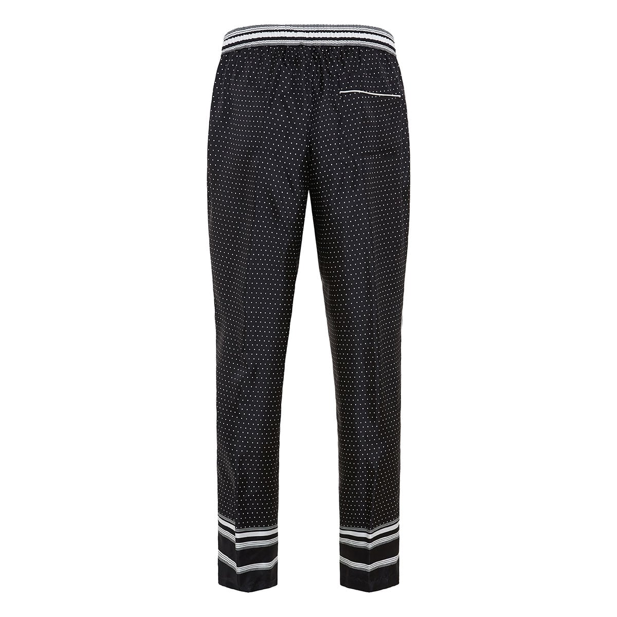 Polka-dot silk pajama trousers