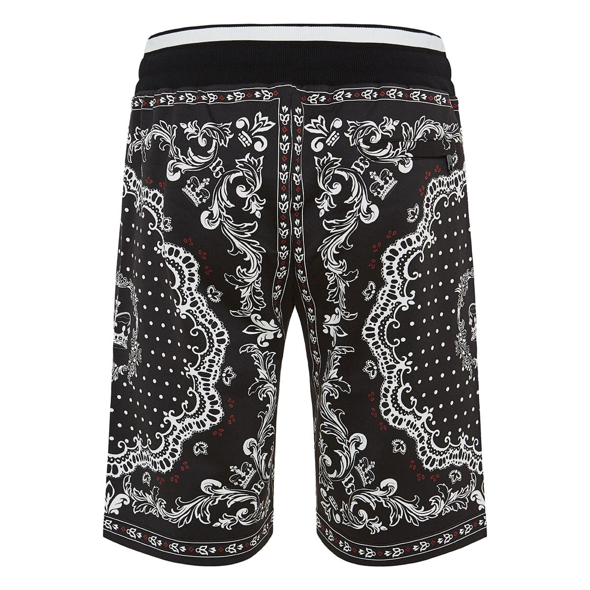 Bandana and Crown printed track shorts