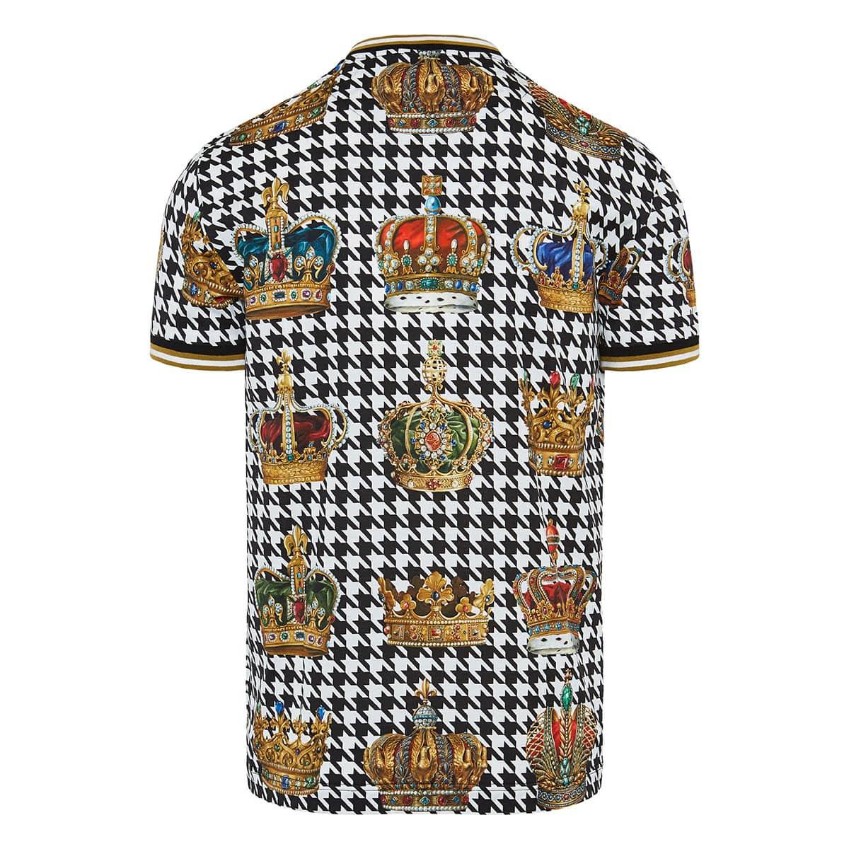 Herringbone crown printed t-shirt