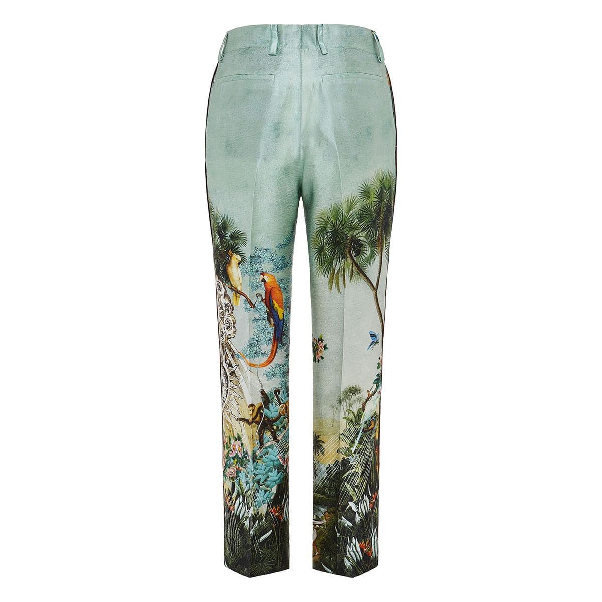 Tartaro printed silk trousers