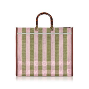 Sunshine FF striped jacquard tote