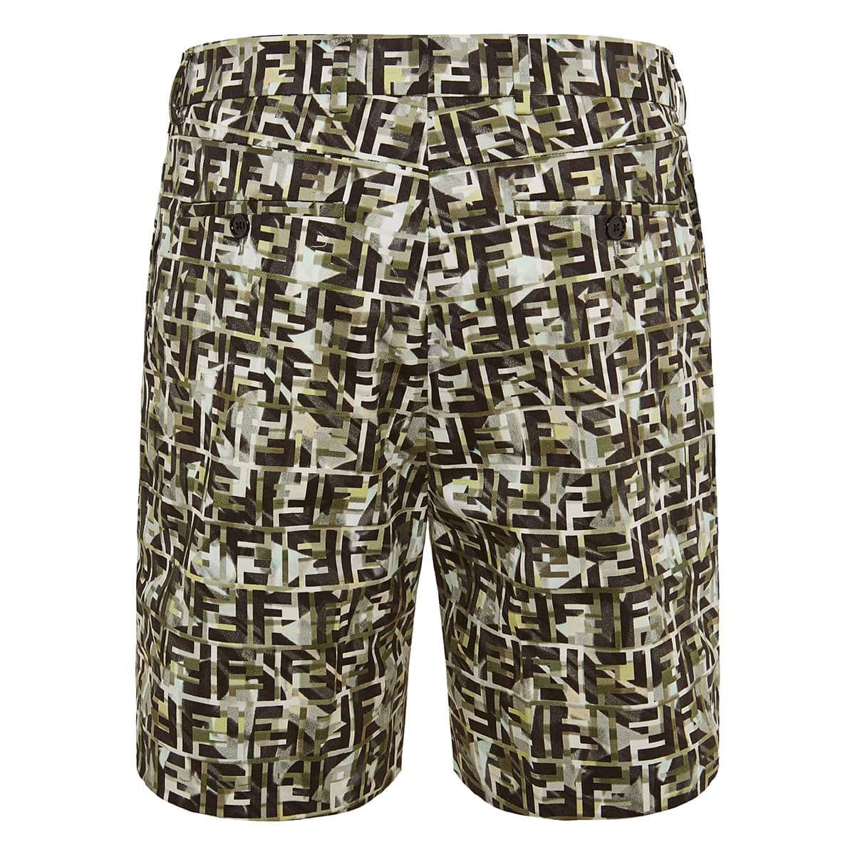 FF logo printed shorts