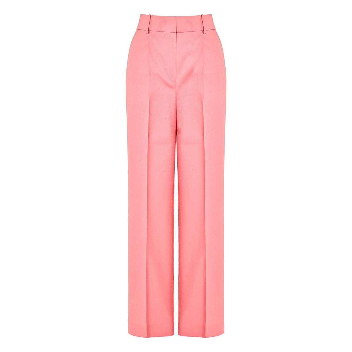 Wide-leg wool tailored trousers