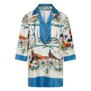 Disney x Gucci printed twill shirt