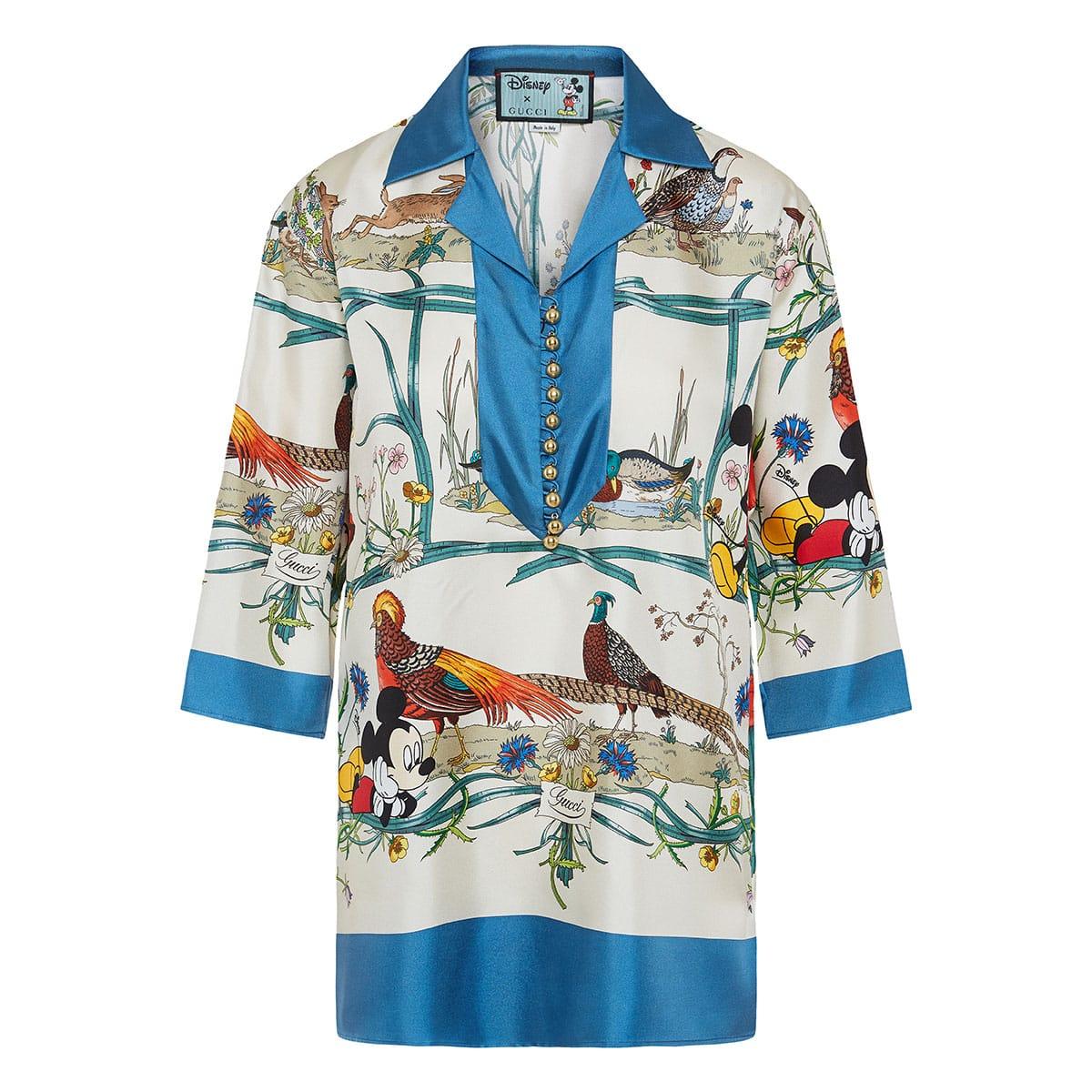Disney x Gucci printed twill shirt
